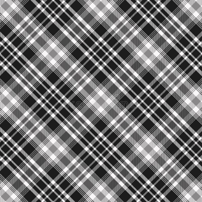 在黑白的格子呢样式 格子花呢披肩的,桌布,衣裳,衬衣,礼服,纸,卧具,毯子,被子纹理和 库存例证