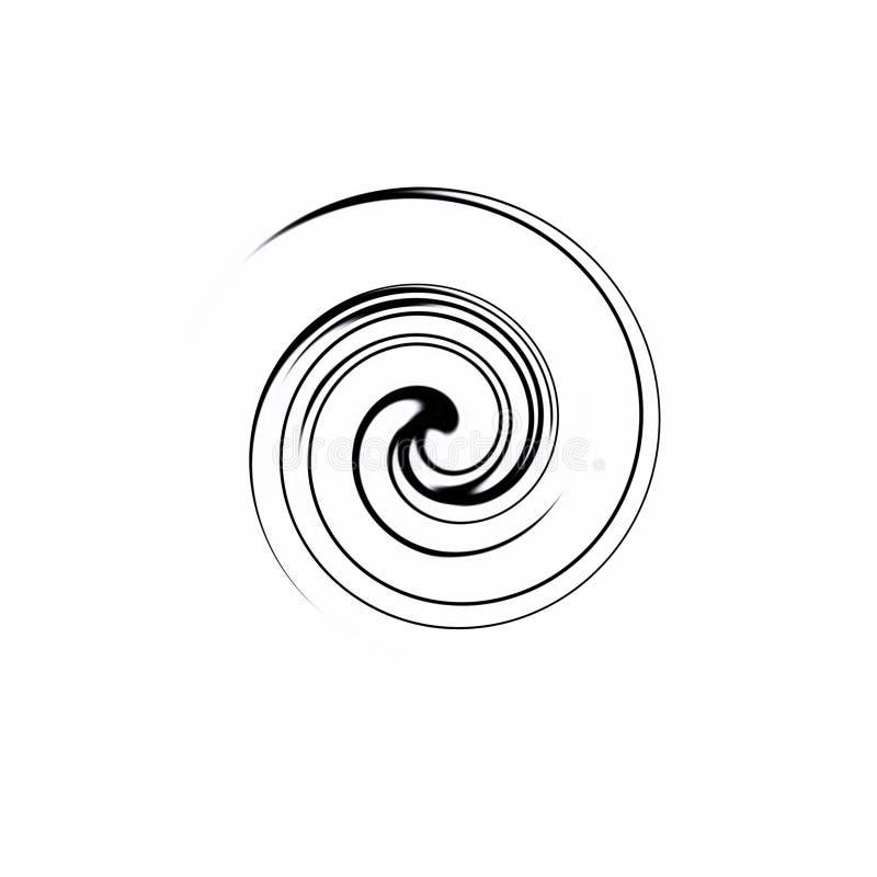 在黑白的螺旋 图库摄影