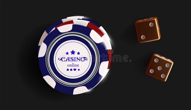 在黑背景和模子隔绝的赌博娱乐场芯片 赌博娱乐场比赛3D芯片 网上赌博娱乐场横幅 黑现实芯片 向量例证
