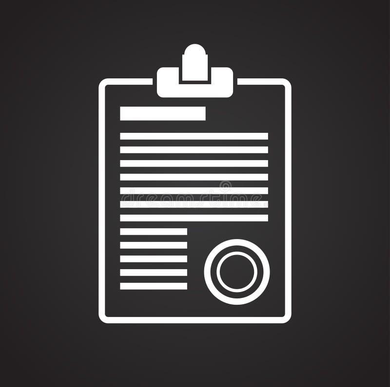 在黑背景的商业文件象图表和网络设计的,现代简单的传染媒介标志 背景蓝色颜色概念互联网 时髦标志 皇族释放例证