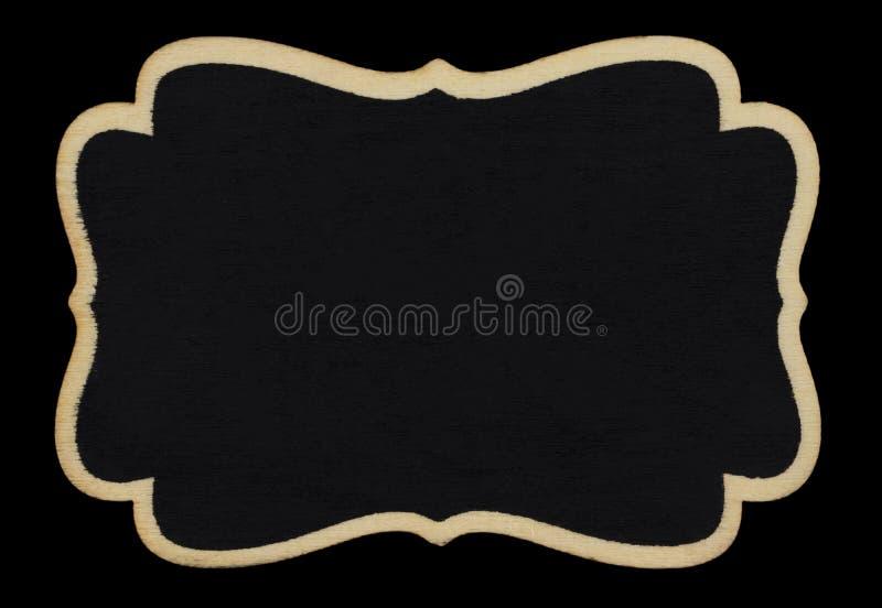 在黑背景的小空白的黑板 库存例证