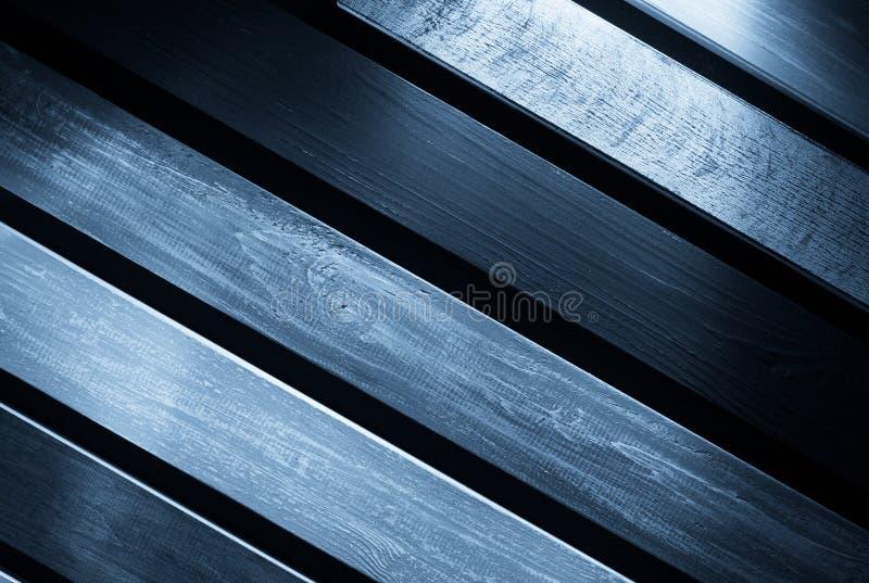 在黑背景的木板 免版税图库摄影