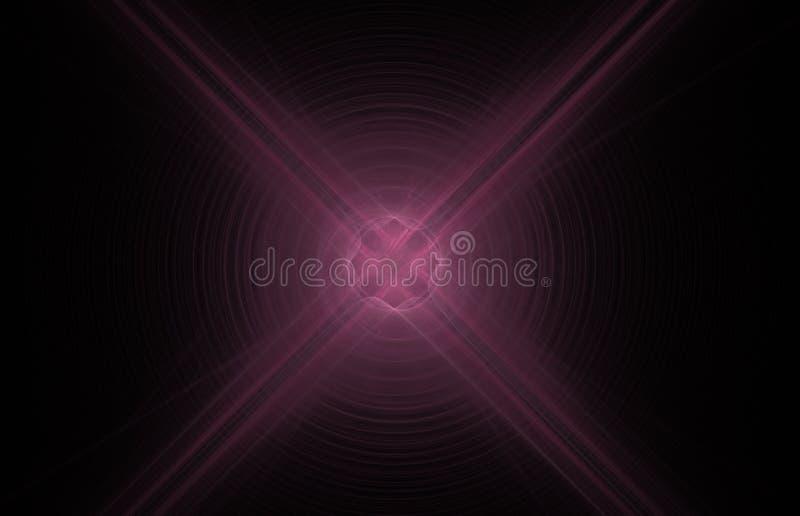 在黑背景的桃红色发怒抽象分数维 幻想分数维纹理 abstact艺术深深数字式红色转动 3d翻译 计算机生成的图象 向量例证