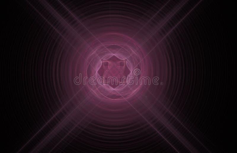 在黑背景的桃红色发怒抽象分数维 幻想分数维纹理 abstact艺术深深数字式红色转动 3d翻译 计算机生成的图象 皇族释放例证