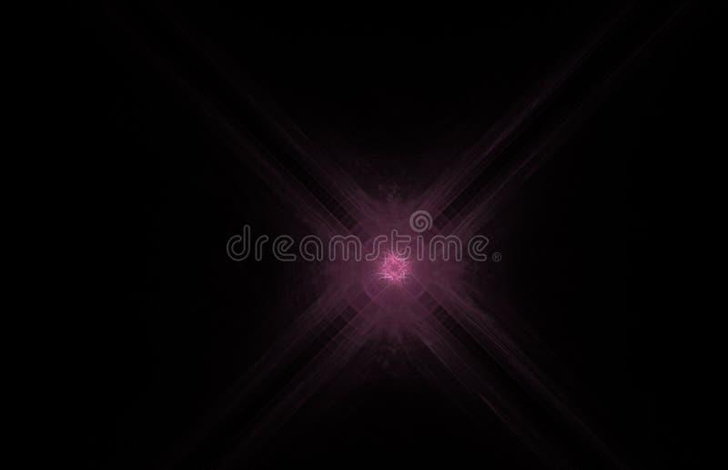 在黑背景的桃红色发怒抽象分数维 幻想分数维纹理 abstact艺术深深数字式红色转动 3d翻译 计算机生成的图象 库存例证