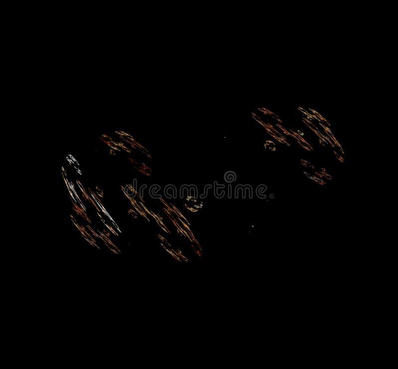 在黑背景的白色棕色分数维 幻想分数维纹理 abstact艺术深深数字式红色转动 3d翻译 计算机生成的图象 皇族释放例证