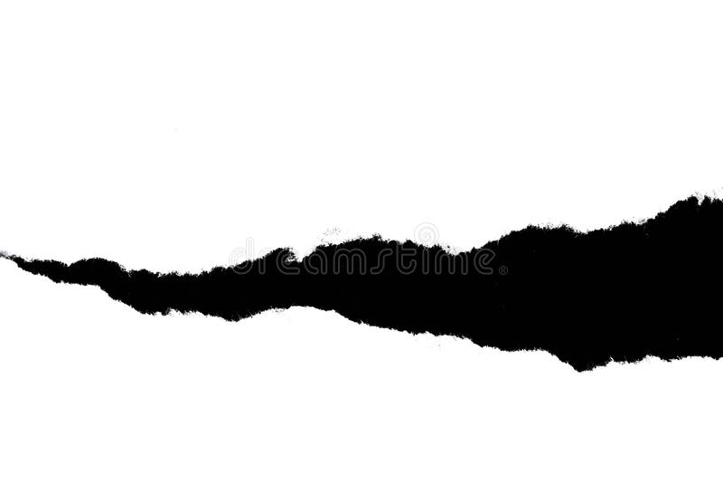 在黑背景的白色被撕毁的纸与拷贝空间 皇族释放例证