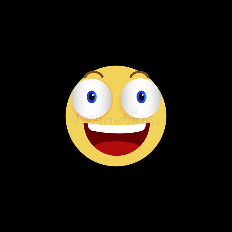 在黑背景的黄色微笑象 皇族释放例证