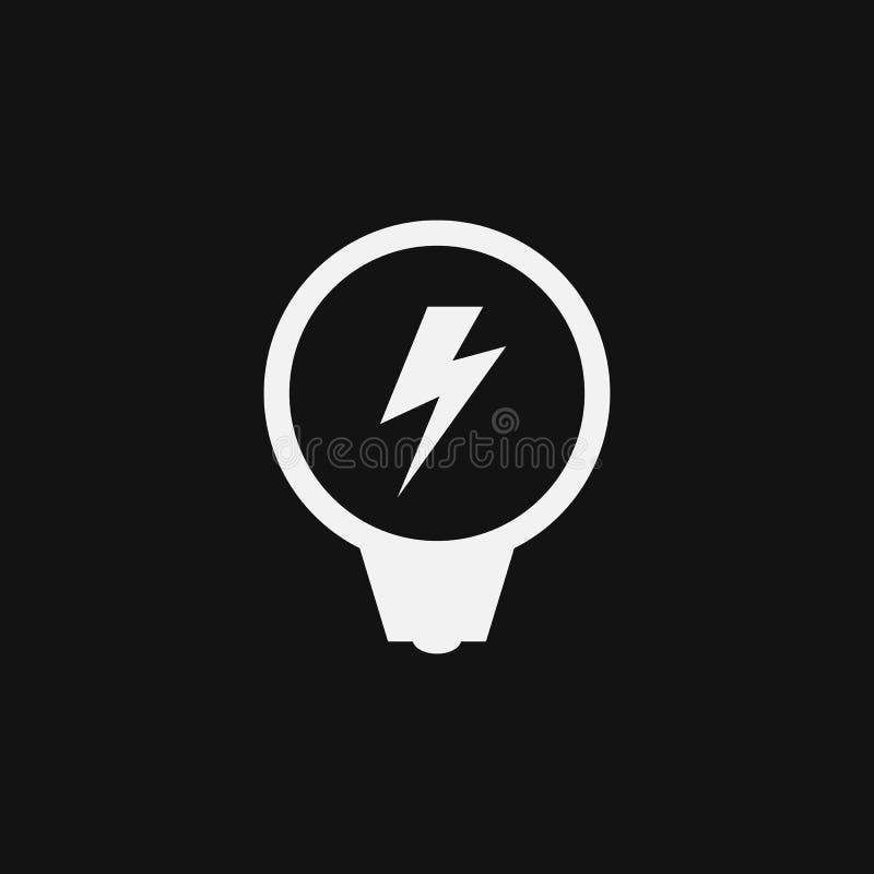 在黑背景隔绝的电商标 库存例证