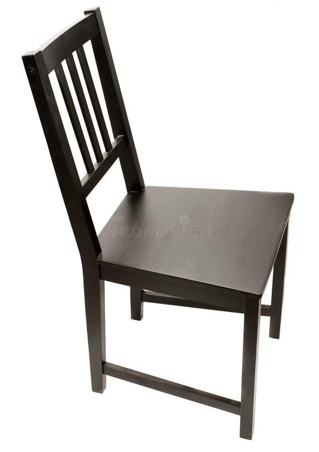 在黑色椅子之上 免版税图库摄影