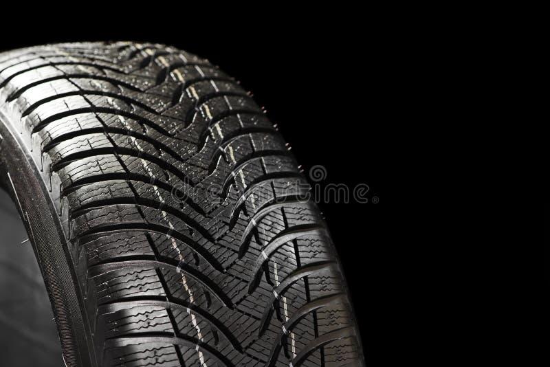 在黑色的冬天轮胎 库存图片