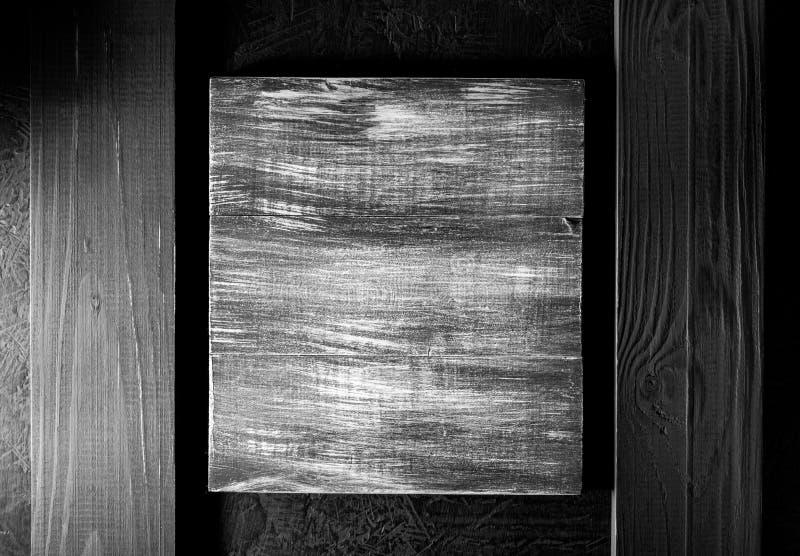 在黑色的木牌 免版税库存照片