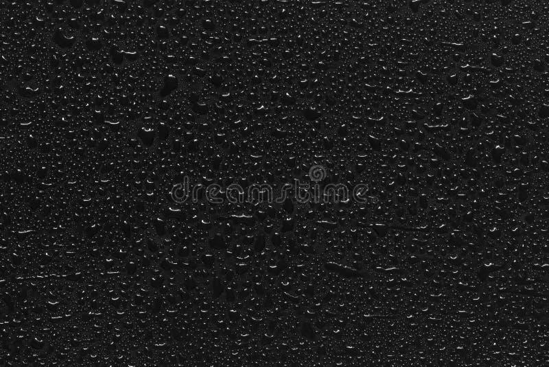 在黑色的水滴 图库摄影