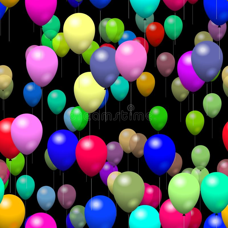 在黑色的纹理baloon 库存例证