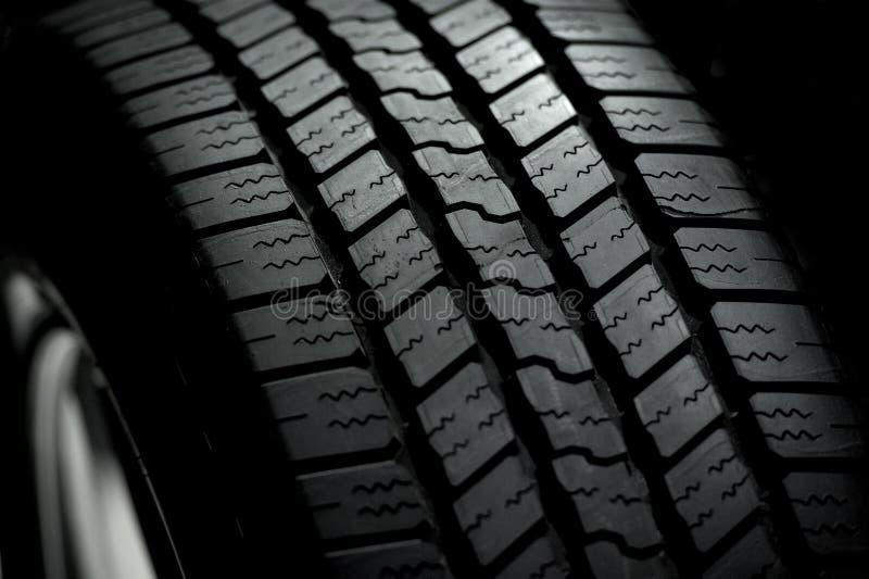 在黑色的车胎 库存照片