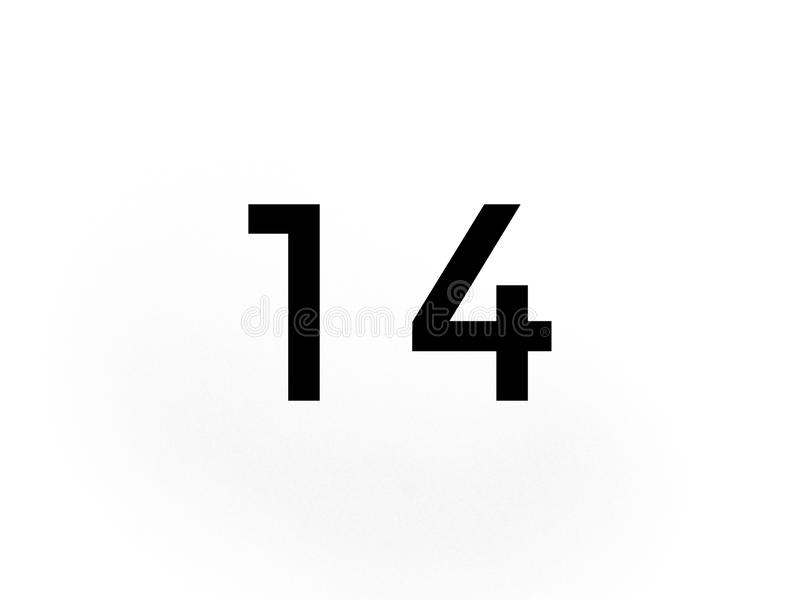 在黑色算术的第十四学会学校 库存例证