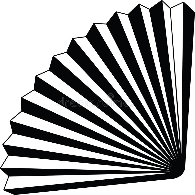 在黑颜色的纸爱好者origame象充分地可重新调整的编辑可能的传染媒介 库存例证