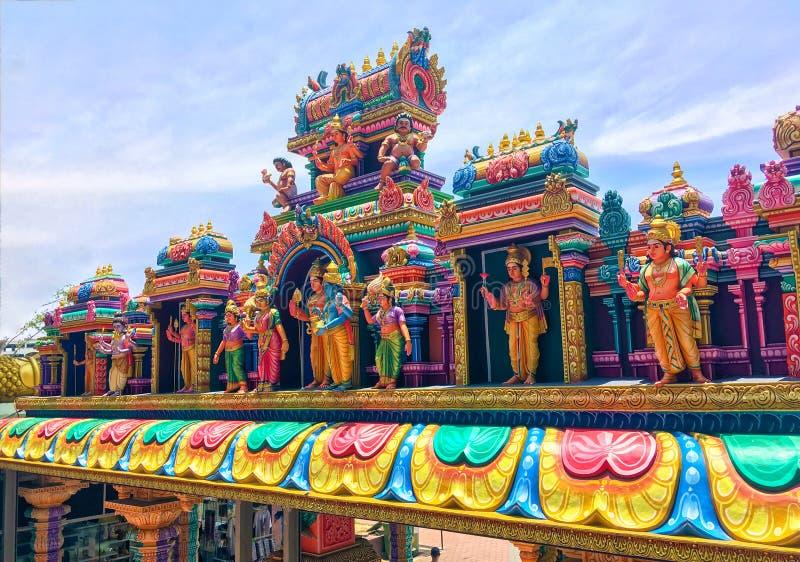 在黑风洞的印度寺庙在吉隆坡 免版税图库摄影