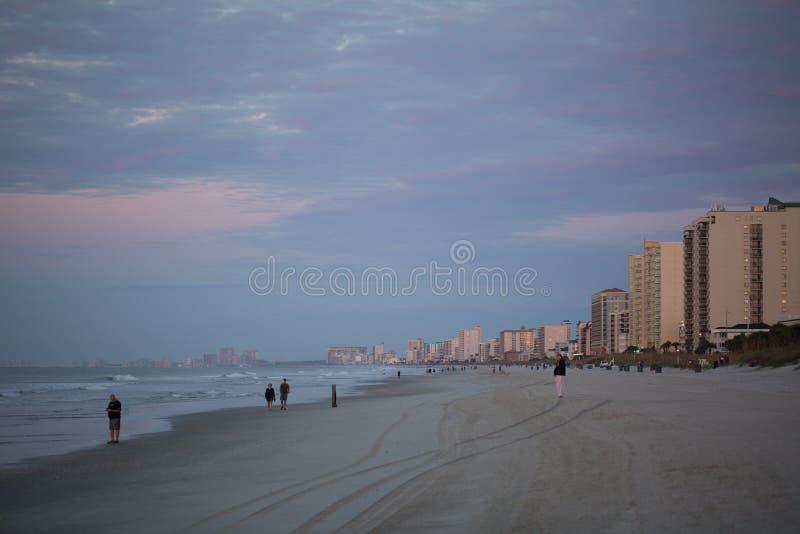 在默特尔海滩的早晨 库存图片
