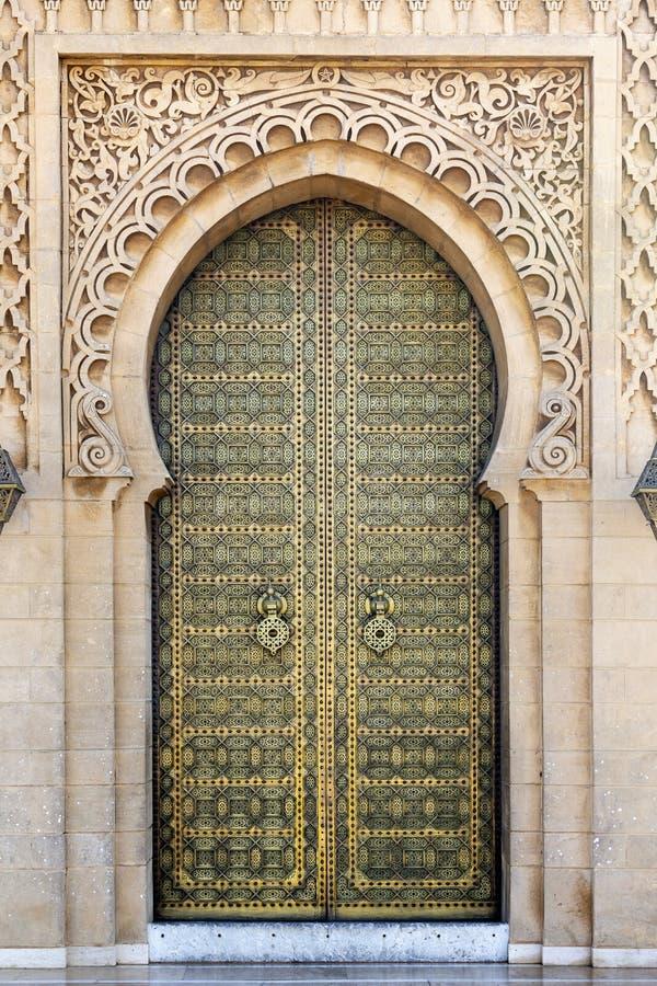 在默罕默德陵墓的门v,拉巴特,摩洛哥 库存图片