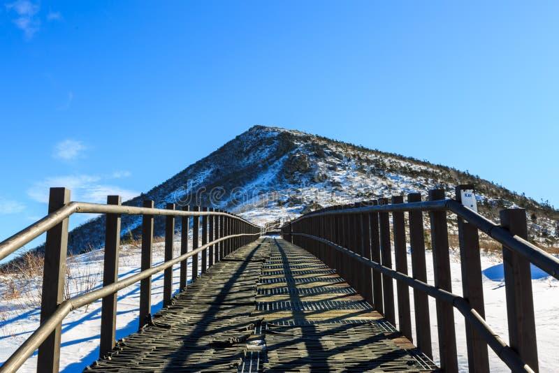 在登上雪岳山国立公园的韩国风景山风景射击 免版税库存图片