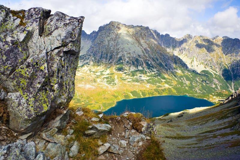在5个湖谷的夏天在高Tatra山 免版税库存图片