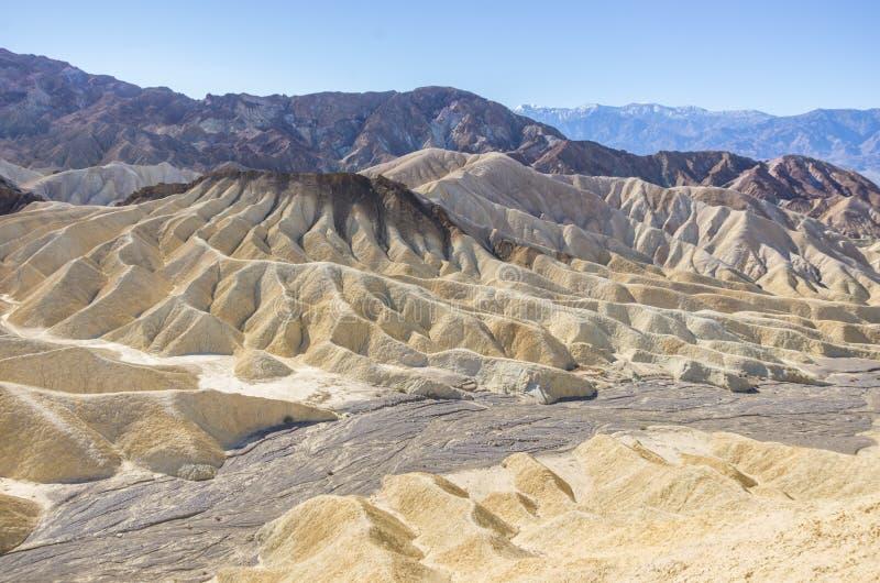 在死亡谷,加利福尼亚的Zabriskie点 免版税库存图片