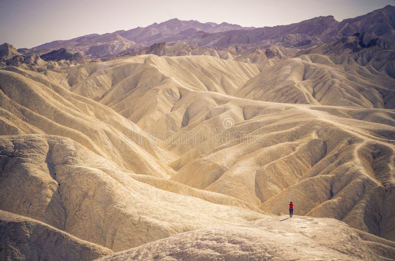 在死亡谷,加利福尼亚的Zabriskie点 库存图片