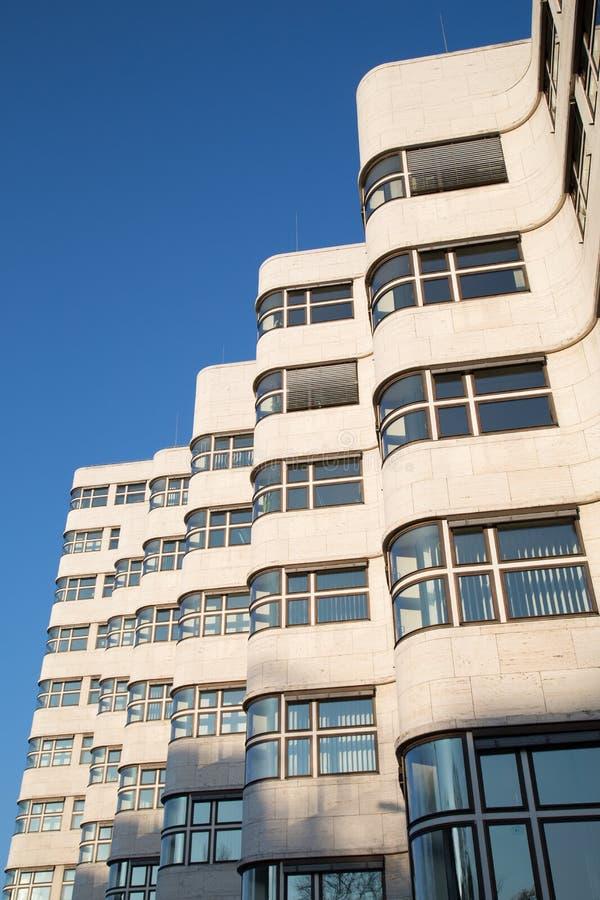 在1932年亦称壳Haus Gasag大厦是埃米尔设计的一个古典现代派建筑杰作Fahrenkamp 免版税库存照片