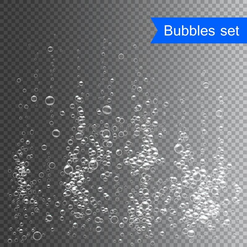 在水传染媒介例证下的泡影 皇族释放例证