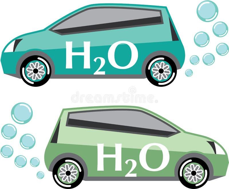 在水传染媒介运行的汽车 向量例证