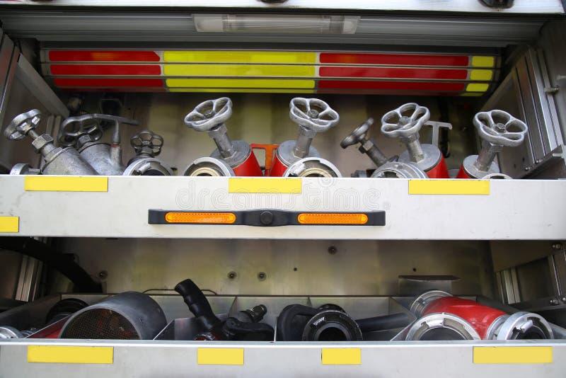在仓促的消防车 免版税库存照片