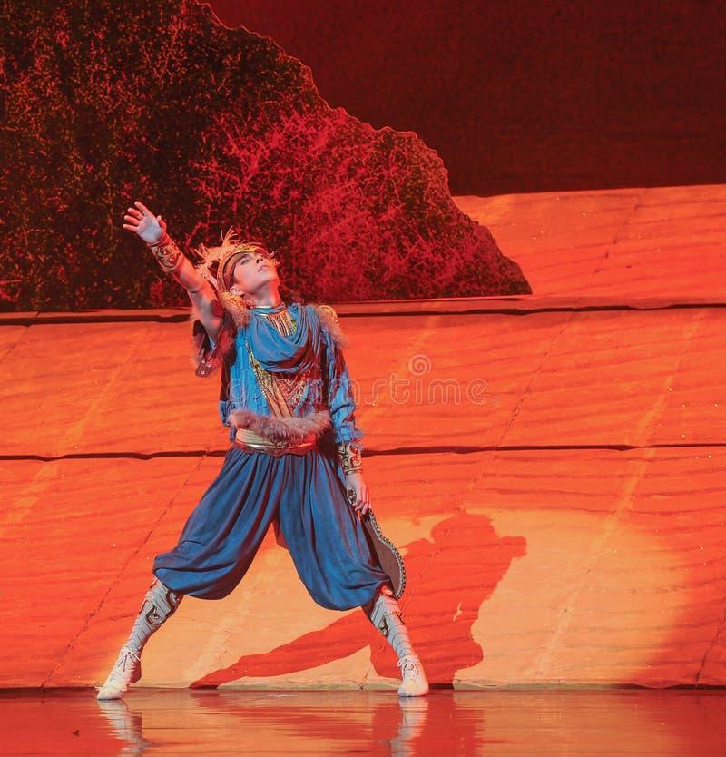 在贺兰的偏僻的无能为力的王子惠山芭蕾月亮 库存图片