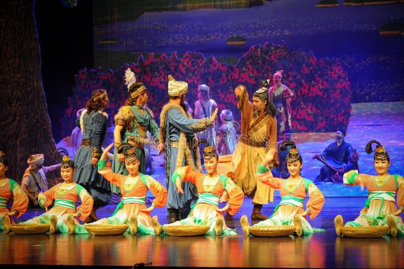 在贺兰的部族换惠山芭蕾月亮 图库摄影