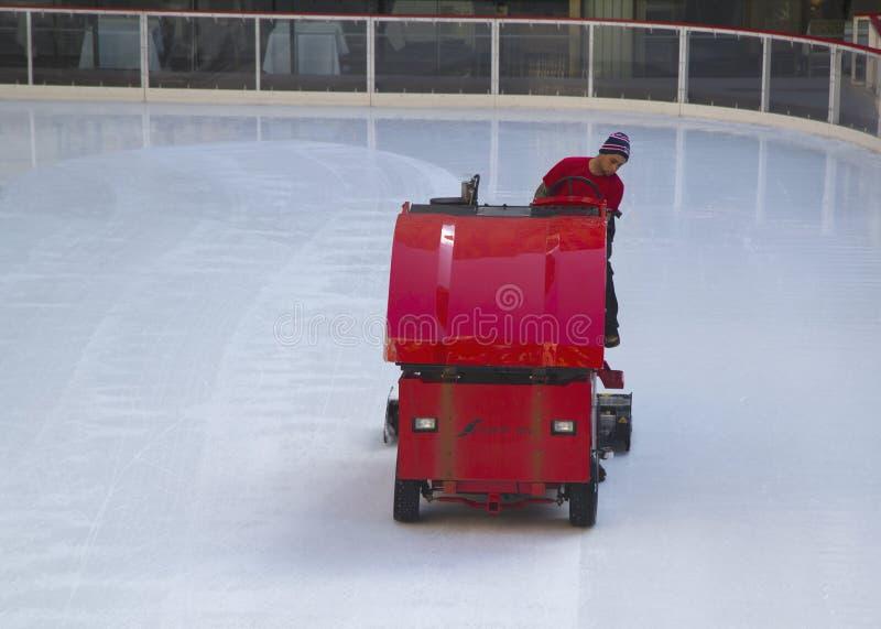 在滑冰场冰复出在洛克菲勒中心在曼哈顿中城 库存照片