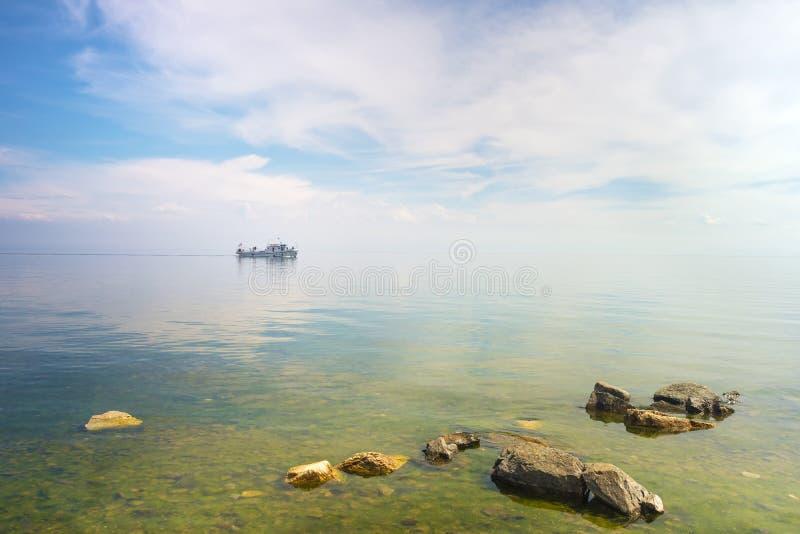 在贝加尔湖的风景 库存图片