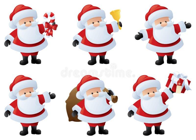 在活动的圣诞老人 向量例证