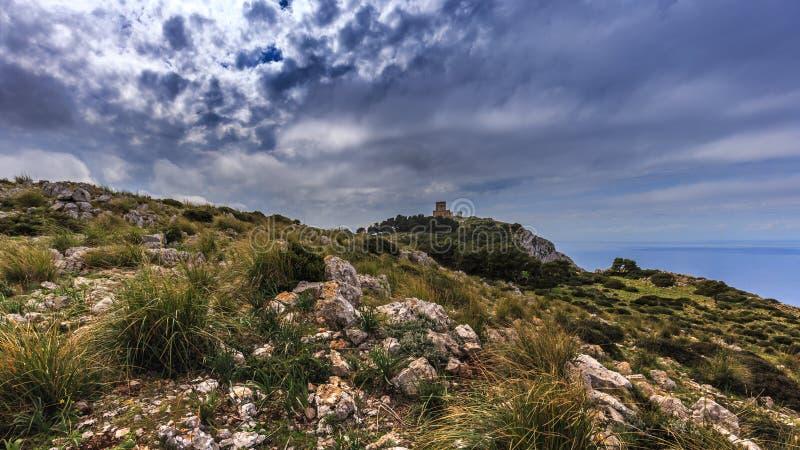 在巴勒莫,西西里岛, Ital附近的山坡 库存图片