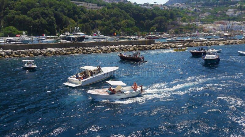 在-卡普里上意大利海岛  库存照片