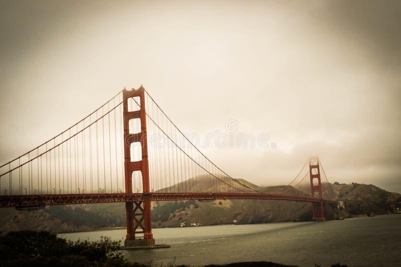 有雾的金门桥 库存照片