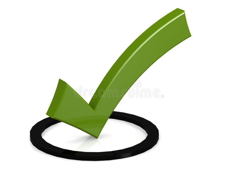 在黑圆的箱子的绿色壁虱 皇族释放例证
