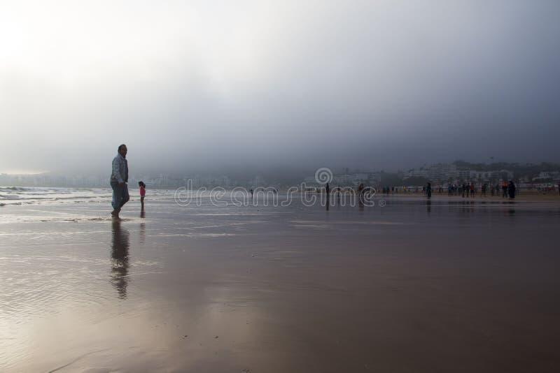 在2016年在阿加迪尔市靠岸在摩洛哥 库存照片
