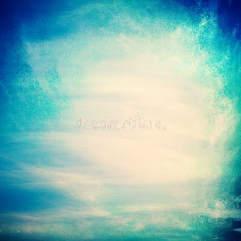 在织地不很细纸背景的云彩 向量例证