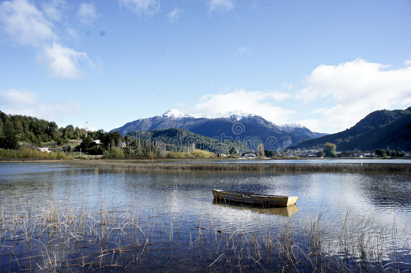 在巴塔哥尼亚智利的Futalefu 库存图片
