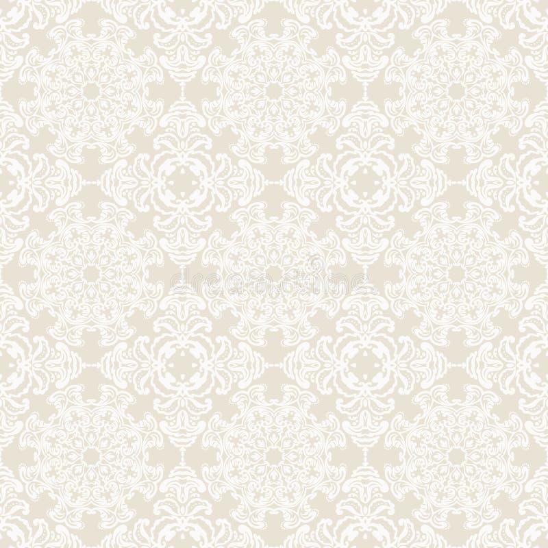 在维多利亚女王时代的样式的传染媒介无缝的样式 向量例证