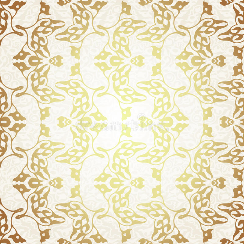 在维多利亚女王时代的样式的传染媒介无缝的样式 库存例证