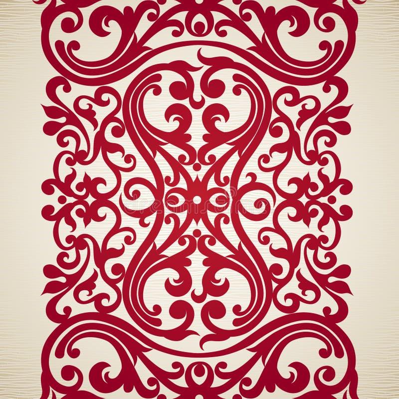 在维多利亚女王时代的样式的传染媒介无缝的边界 库存例证