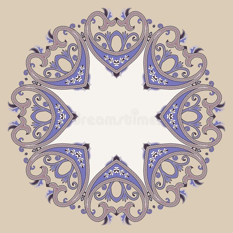 Download 在维多利亚女王时代的样式的装饰华丽圆的框架 向量例证. 插画 包括有 jewelery, 坛场, 模式, 可耕的 - 72368324