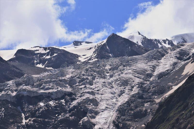 在25000多ft的喜马拉雅山 库存图片