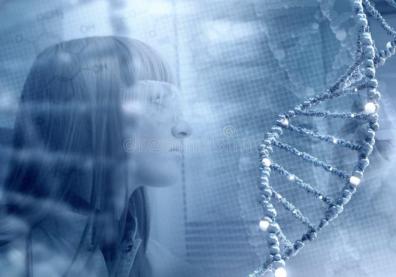 在医学的创新技术 3D在拼贴画的例证元素 皇族释放例证